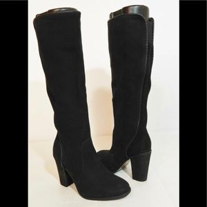 Vince Comuto black leather knee-high boot